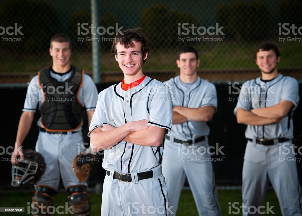 A professional baseball player team  royalty-free stock photo