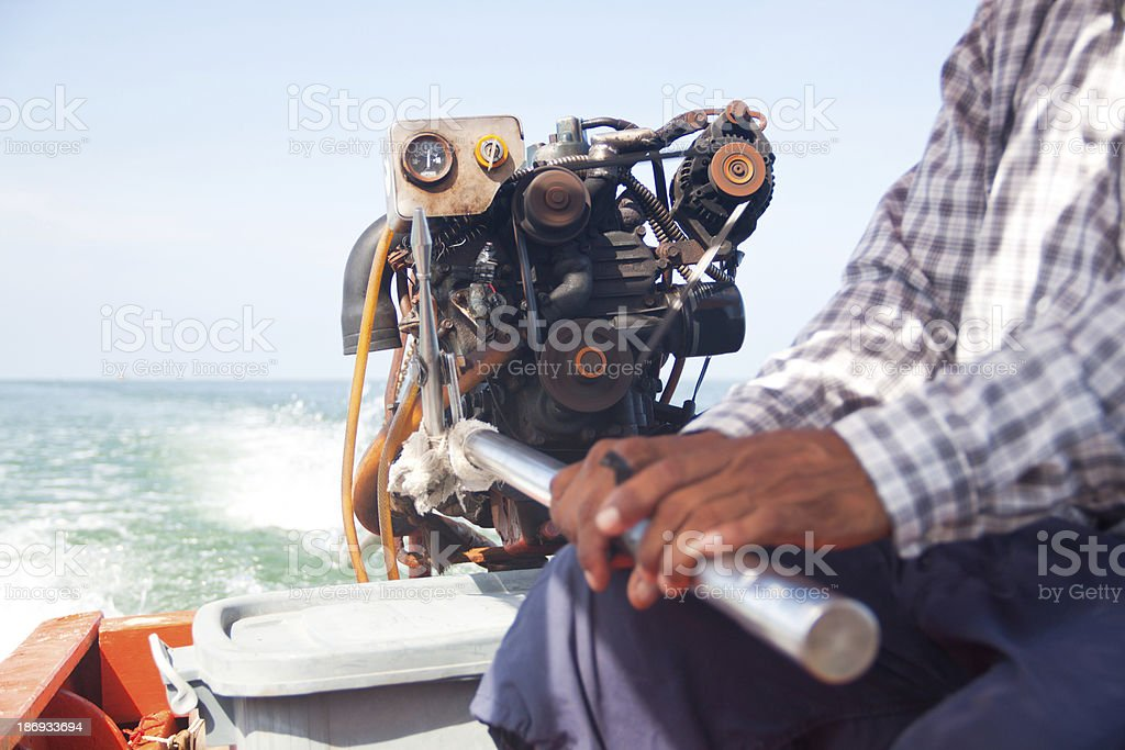 Professional boat driver royalty-free stock photo