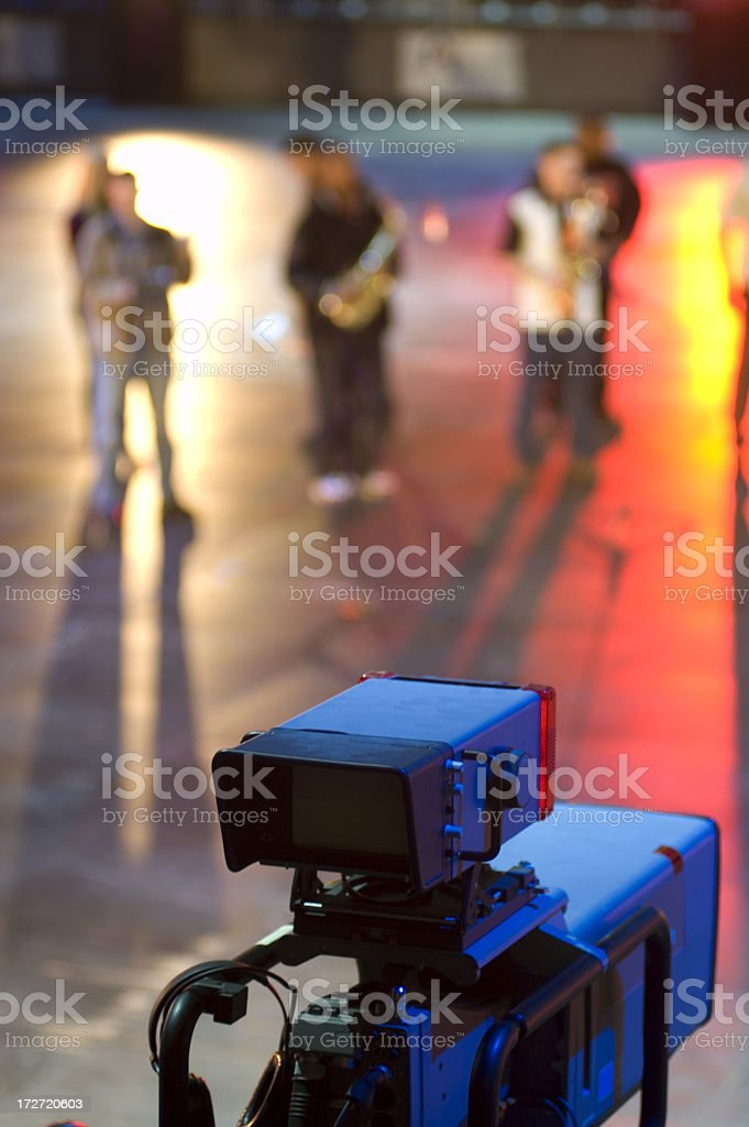 Professional broadcasting stock photo