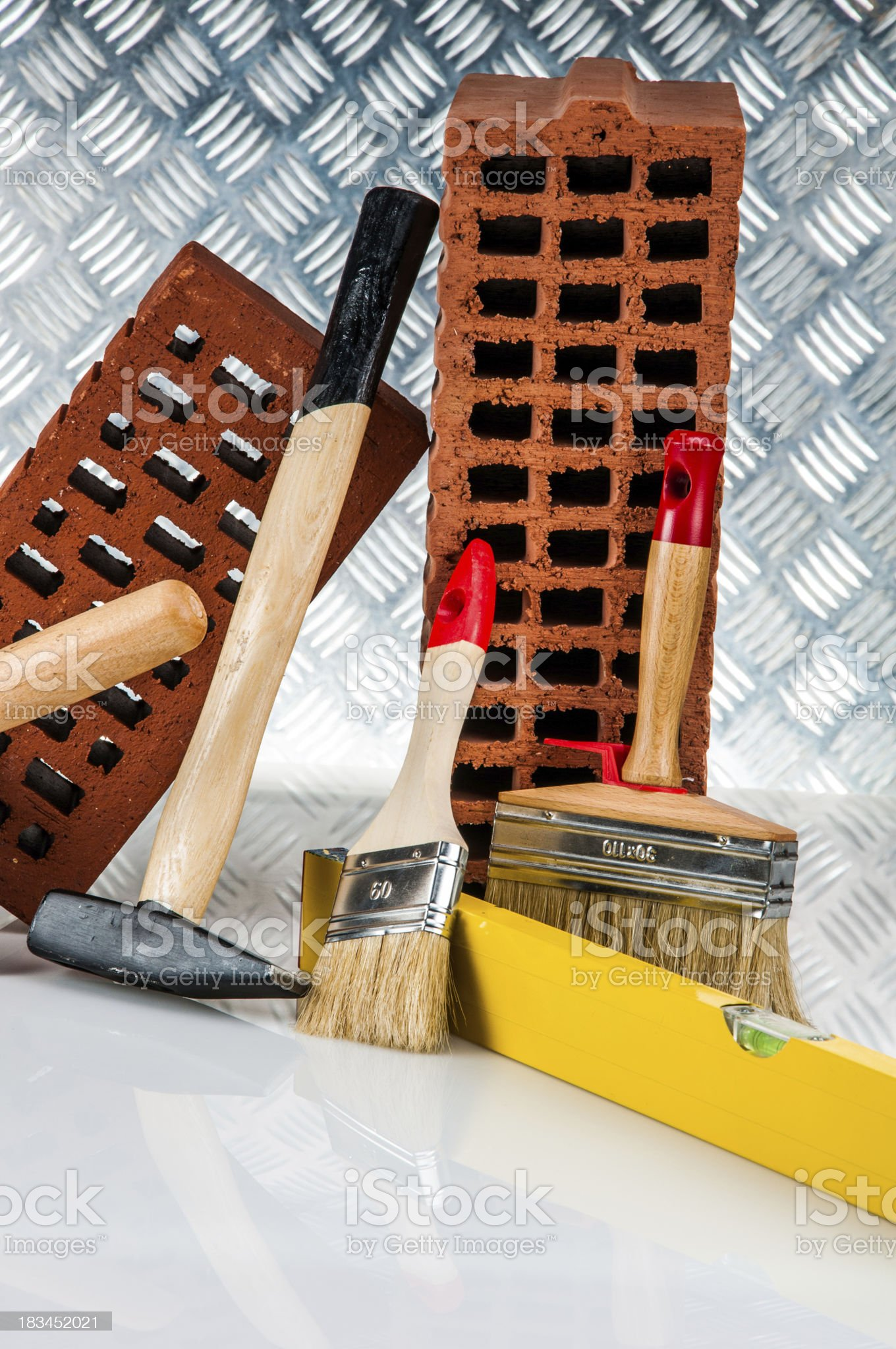 Professional building stuff, construction site objects royalty-free stock photo