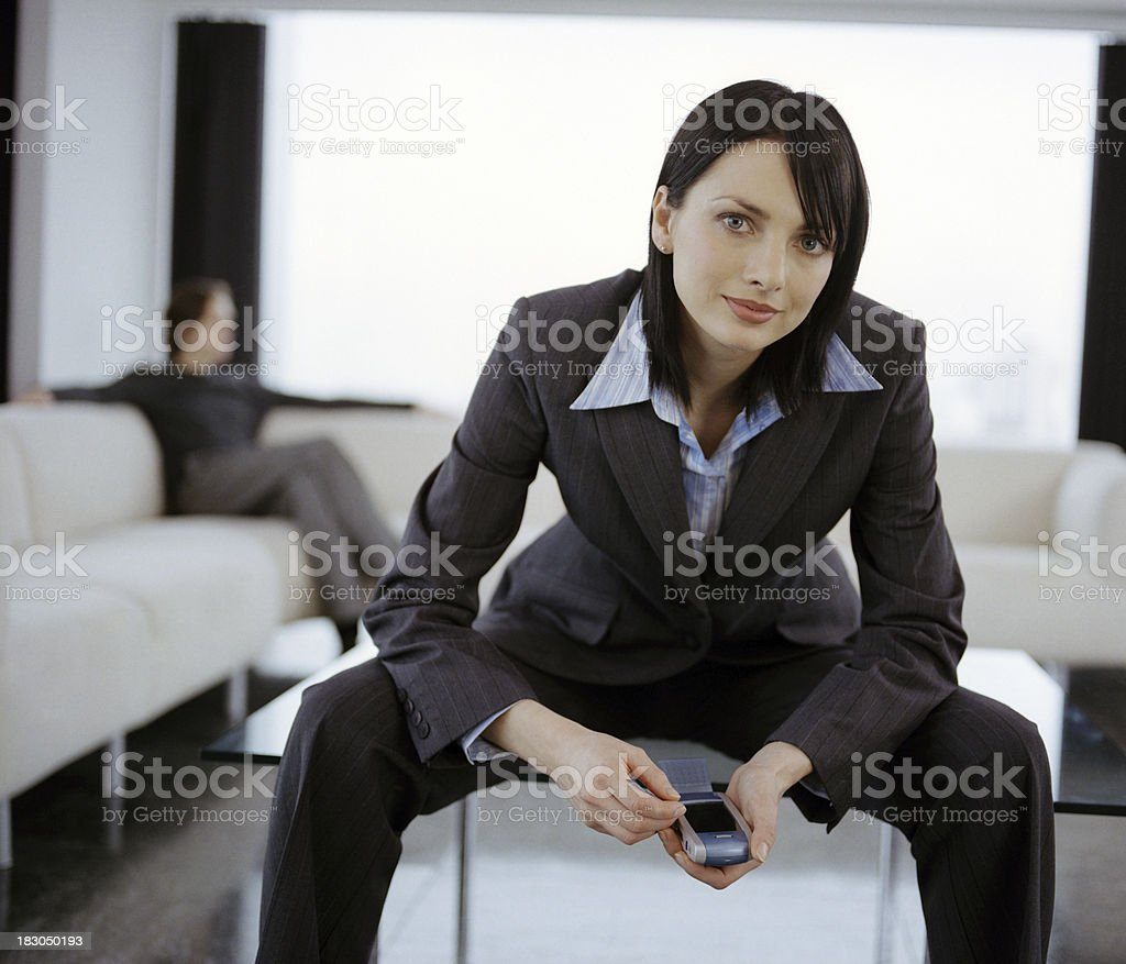 Professional business couple in the Penthouse royalty-free stock photo