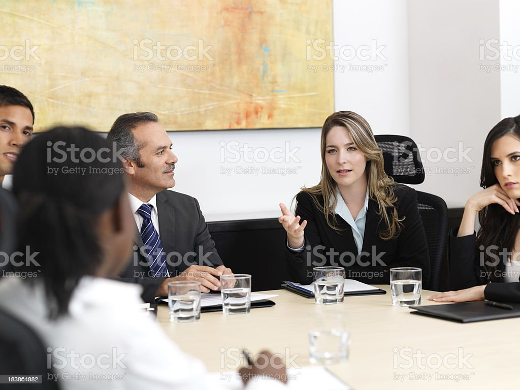 Professional business meeting royalty-free stock photo