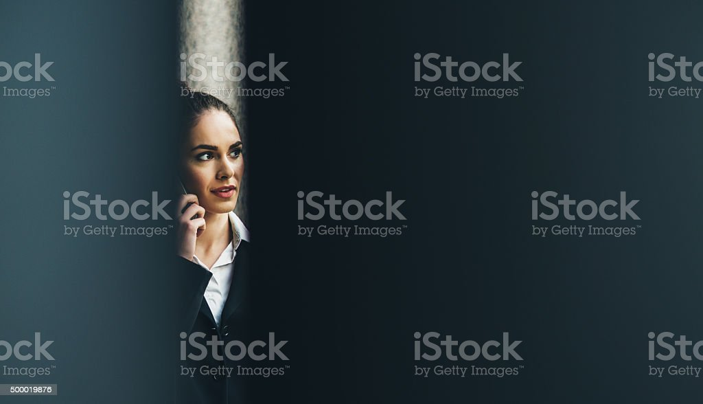 Professional Businesswoman On The Phone stock photo