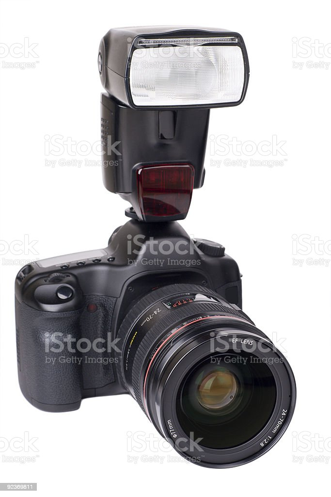 Professional camera stock photo