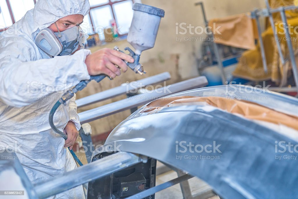Professional car painting stock photo