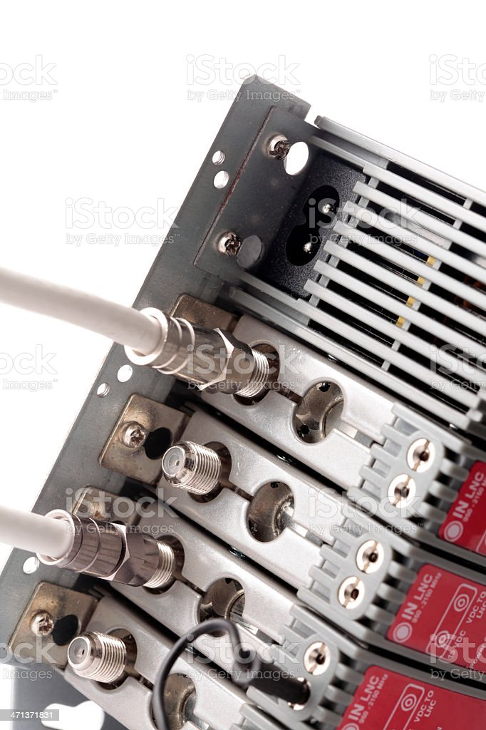 Professional CATV amplifier royalty-free stock photo