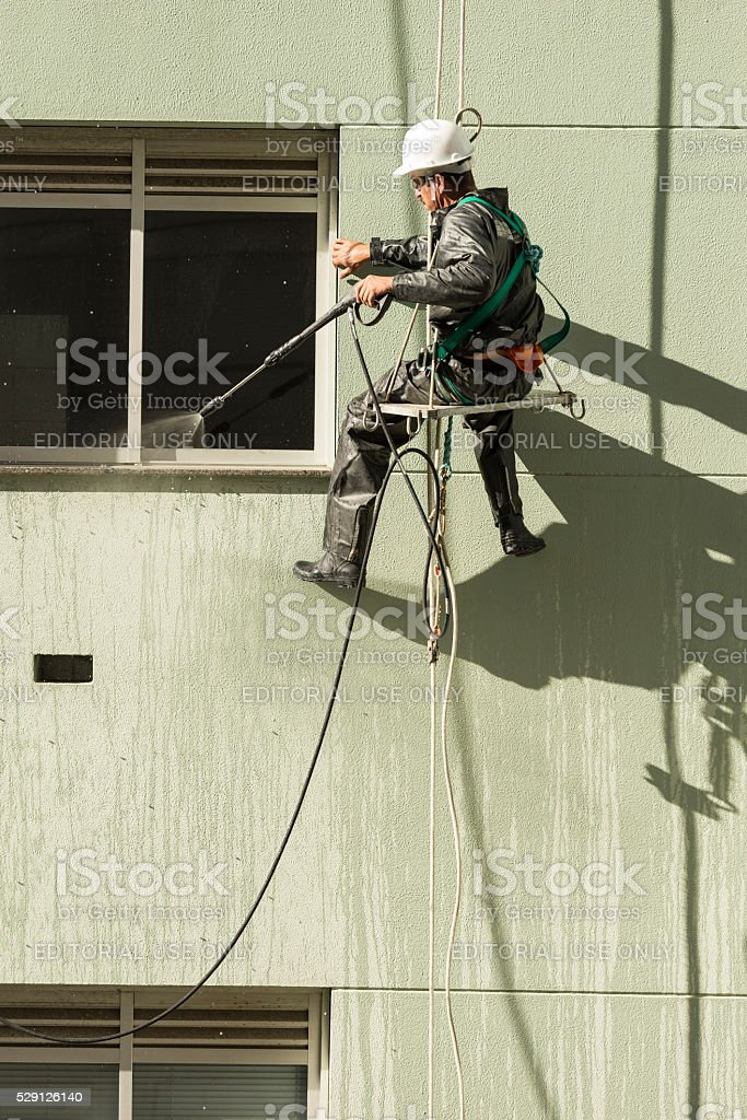 Professional cleaner stock photo