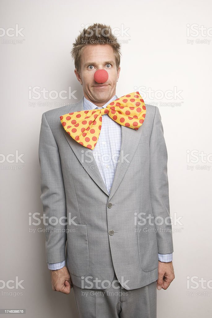 Professional Clown at Your Service royalty-free stock photo