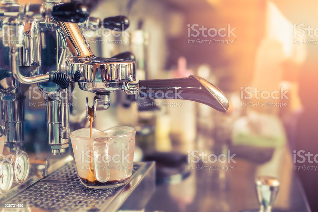 Professional coffee machine stock photo