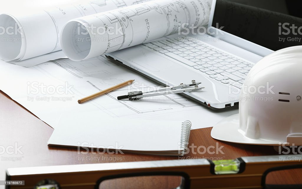 professional construction royalty-free stock photo