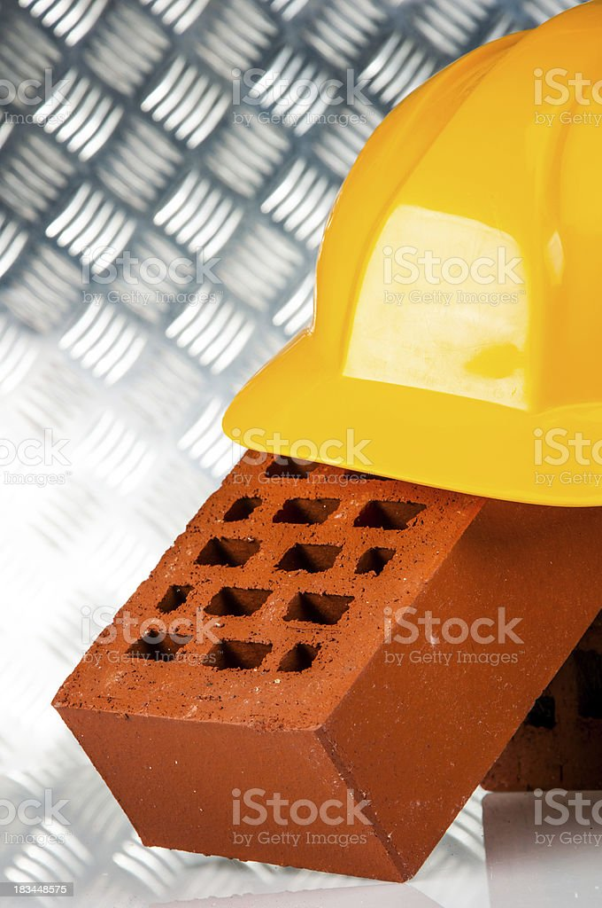Professional construction site concept royalty-free stock photo