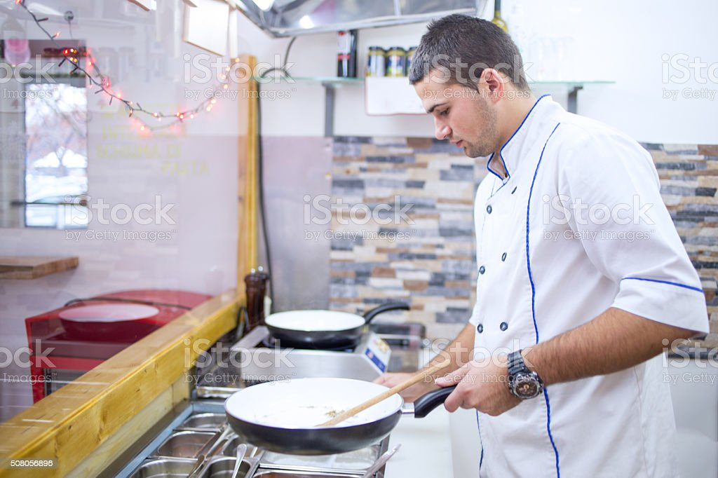 Professional Cook stock photo