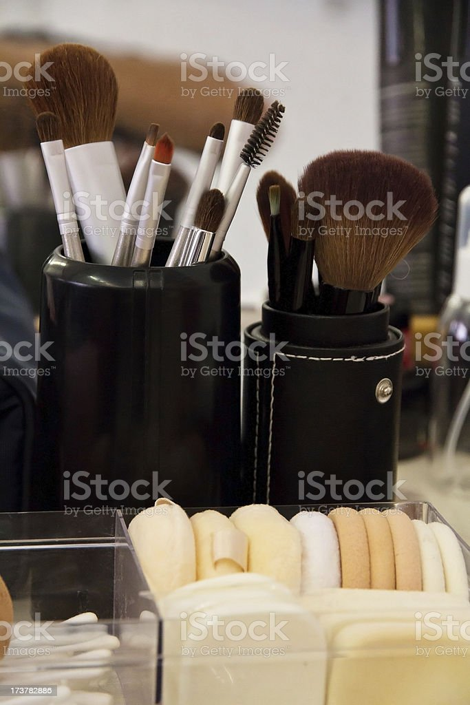 professional cosmetic brush stock photo
