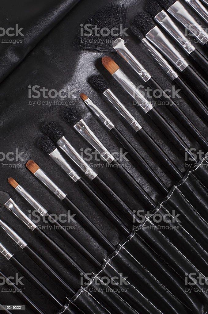 professional cosmetic brushes stock photo