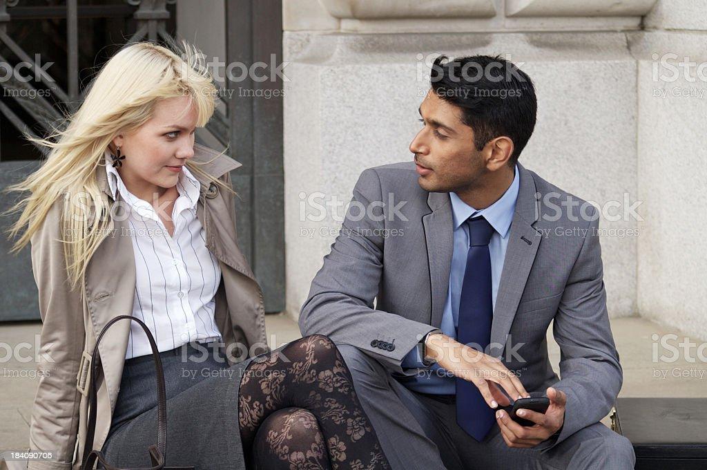 Professional Couple royalty-free stock photo