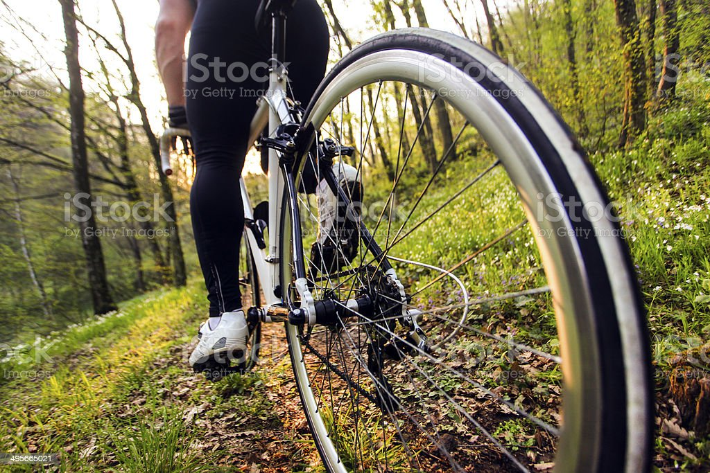 Professional cycling stock photo