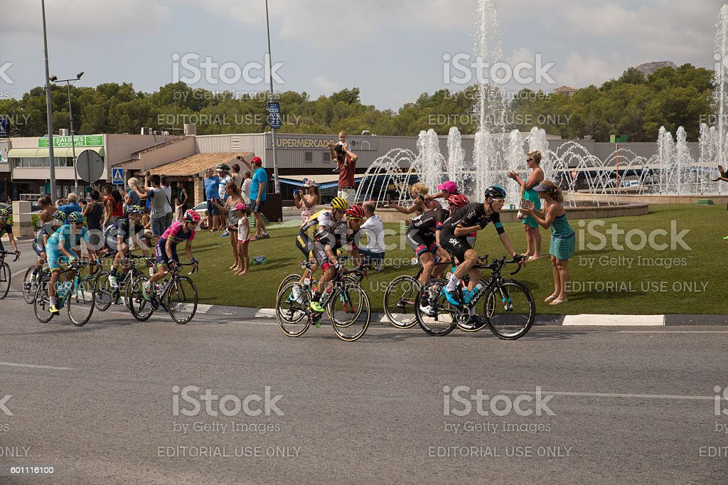 Professional cyclists stock photo