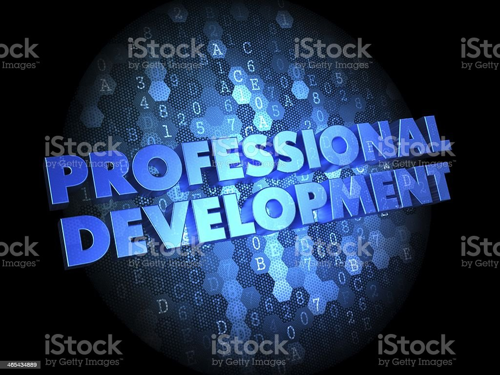Professional Development on Digital Background. stock photo