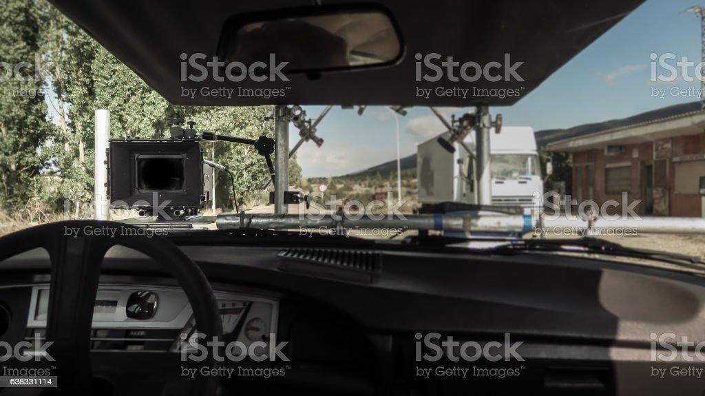Professional digital camera stock photo