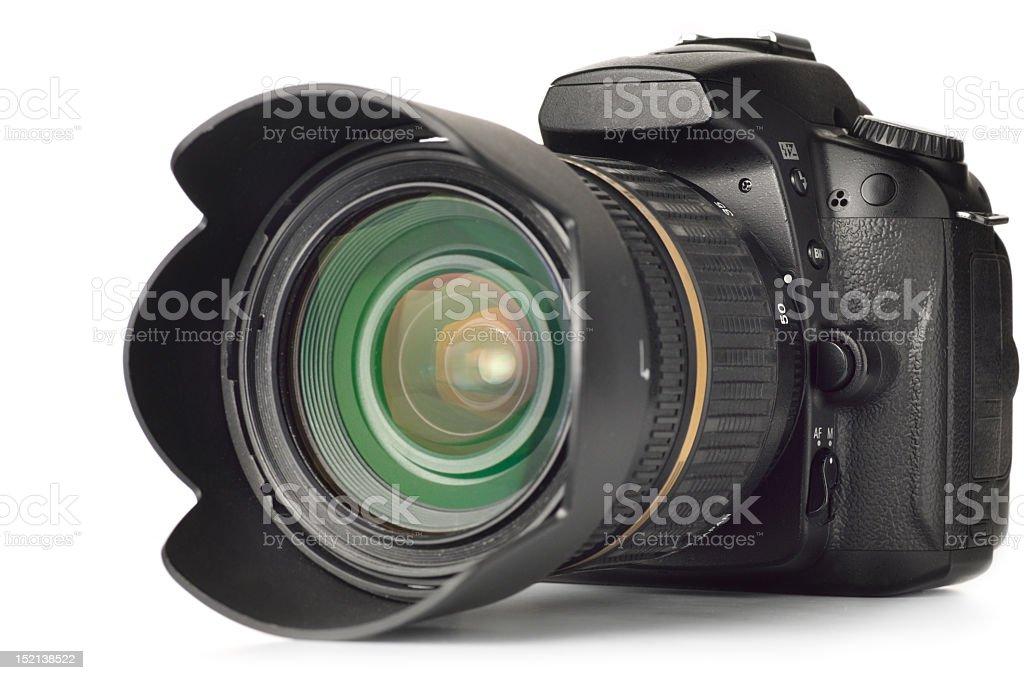 professional digital photo camera isolated on white stock photo