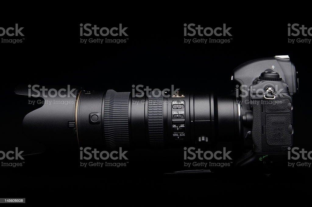 Professional digital photo camera royalty-free stock photo