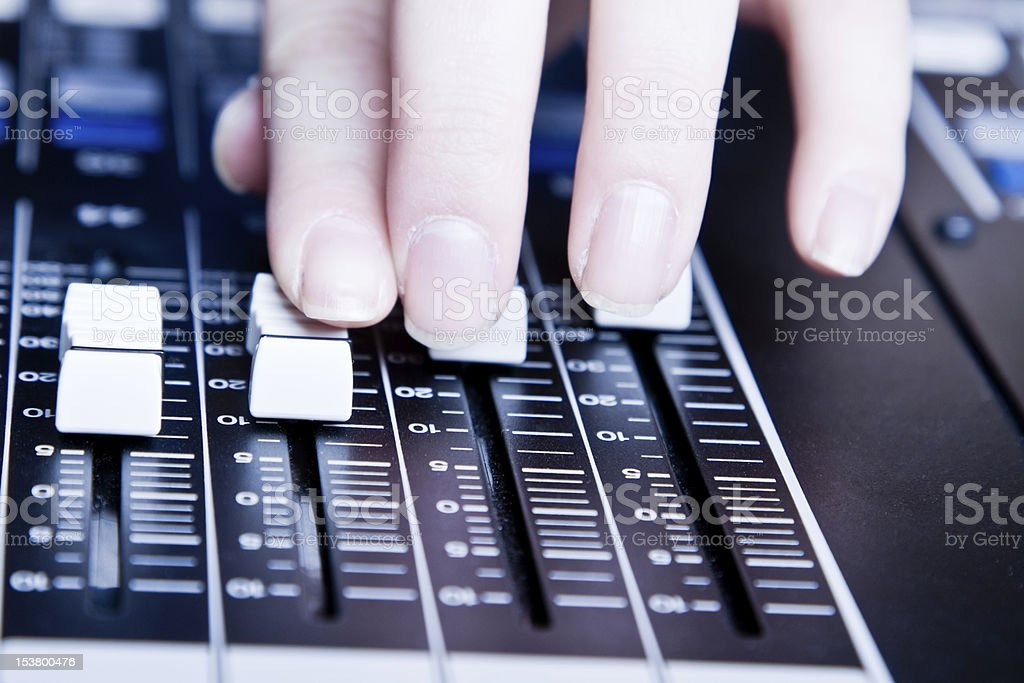 Professional Digital Sound and Recording Console stock photo