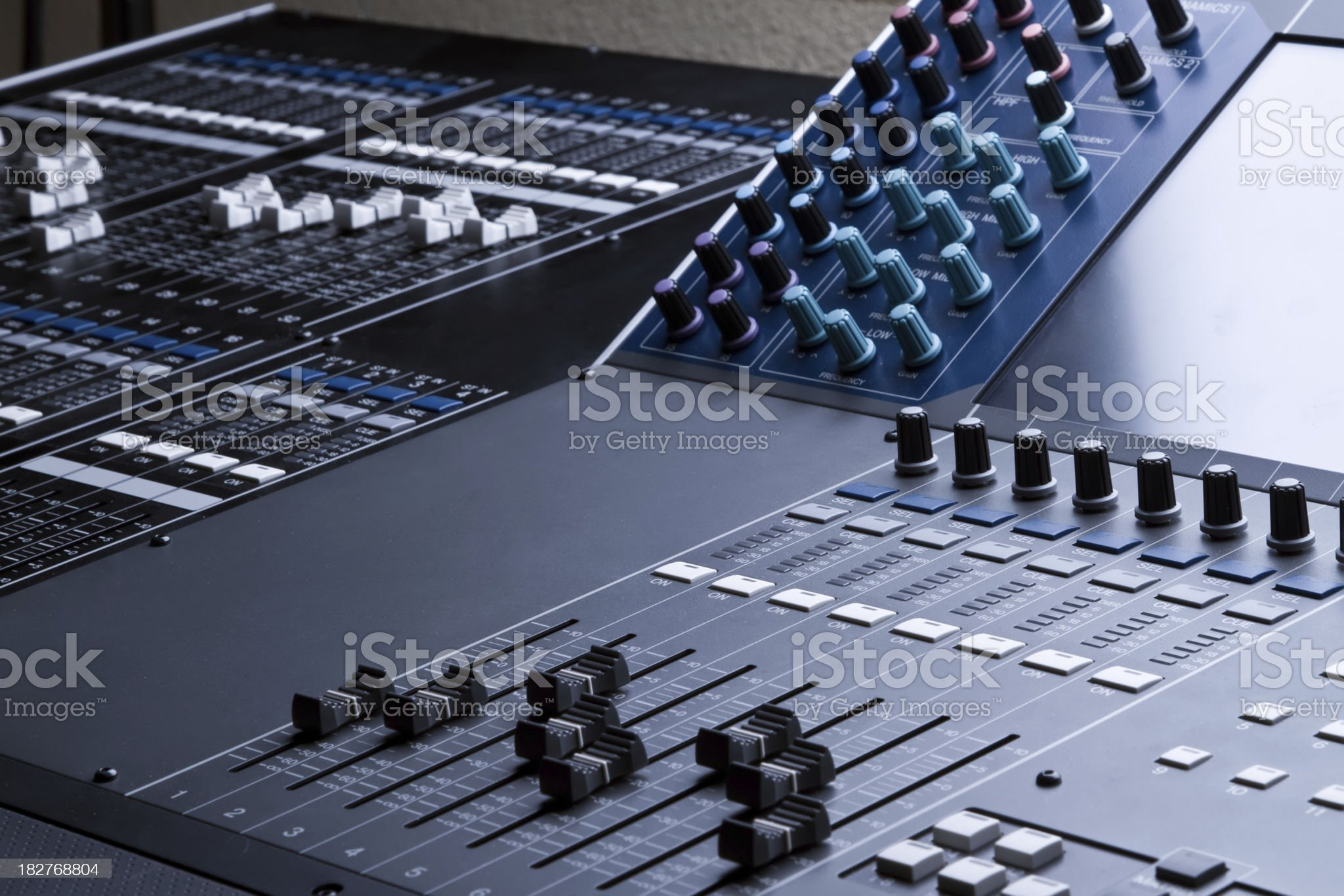 Professional Digital Sound and Recording Console royalty-free stock photo