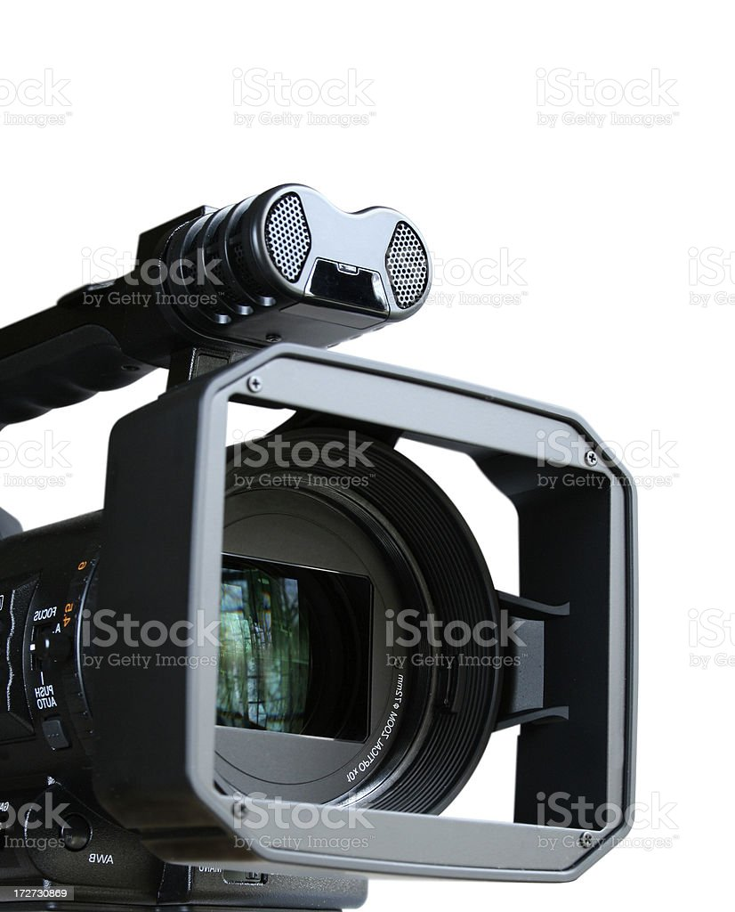 Professional Digital Video Camera royalty-free stock photo