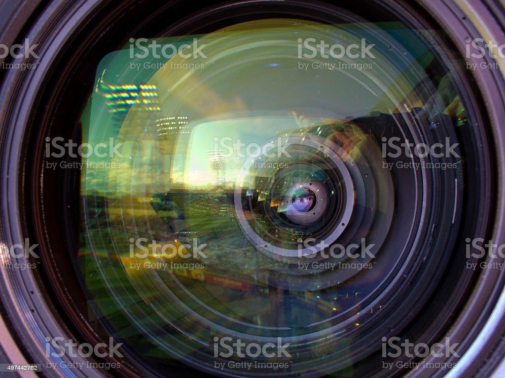 Professional digital video camera. stock photo