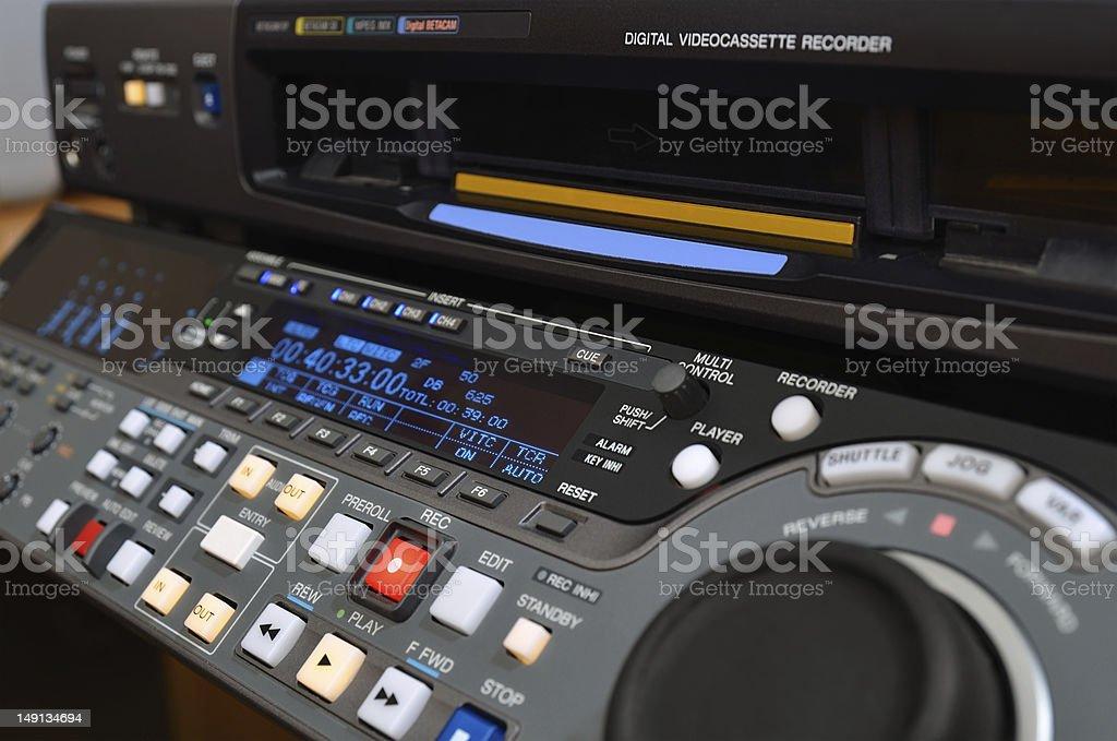 A professional digital video recorder stock photo