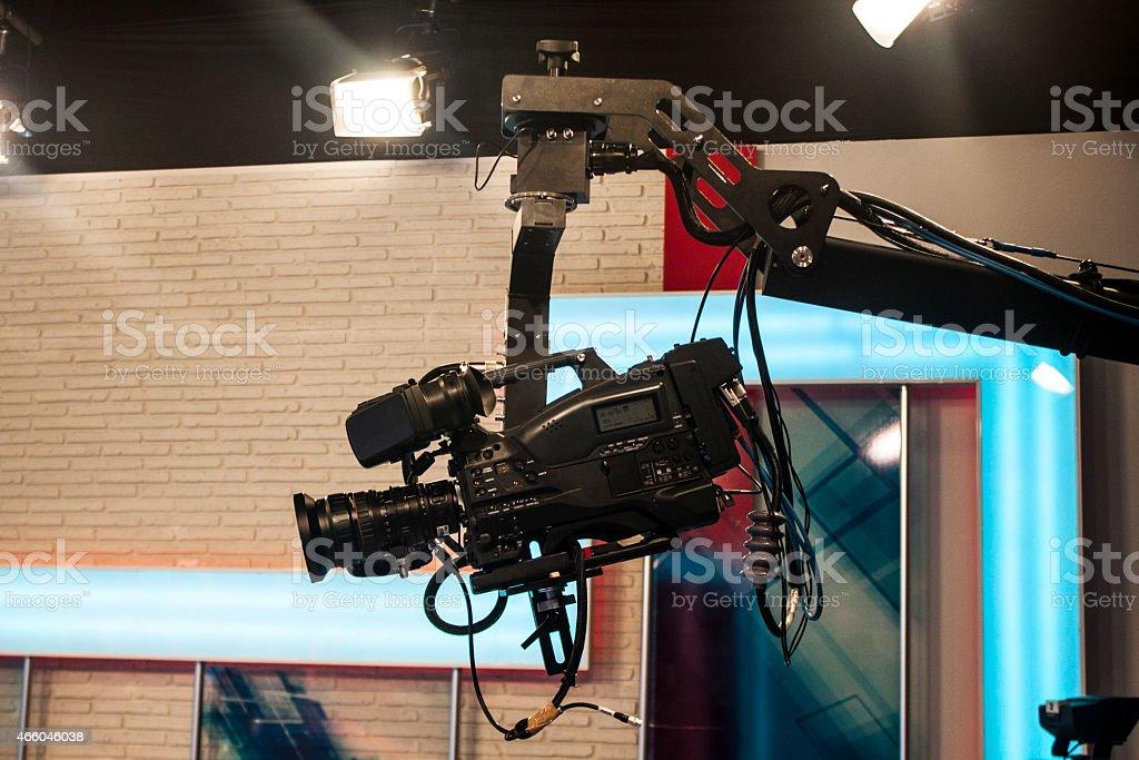 Professional DSLR jimmy video camera stock photo