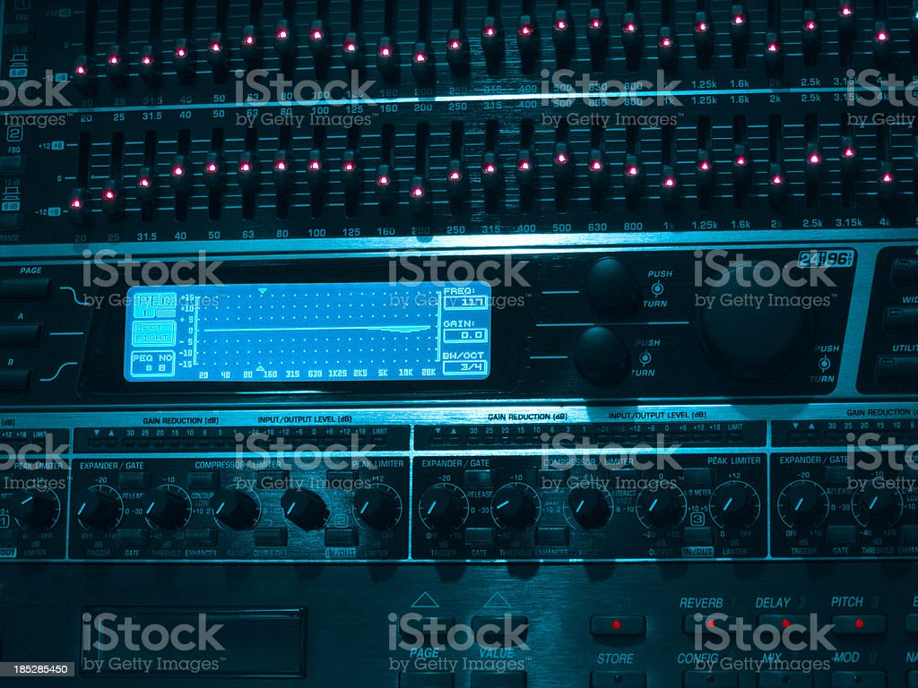 professional equalizer unit stock photo