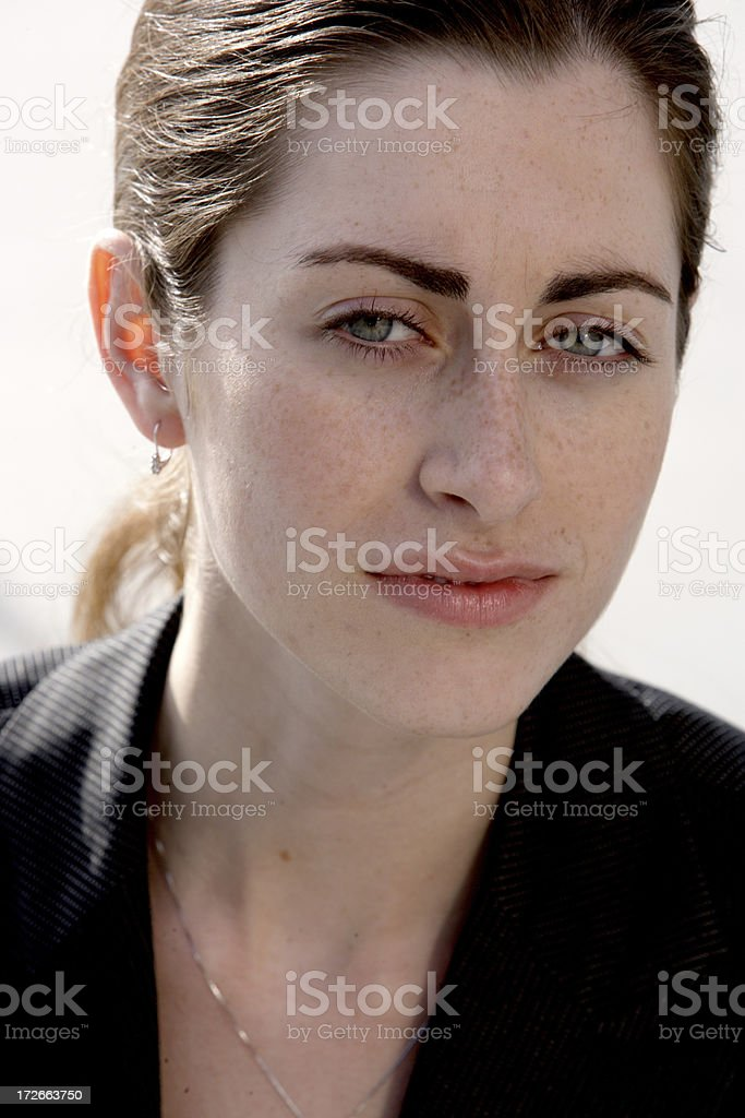 Professional female portrait 04 royalty-free stock photo