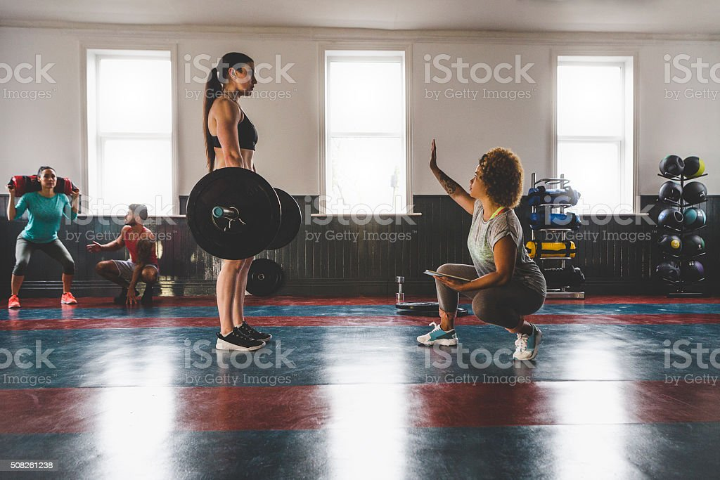 Professional Female Powerlifter stock photo