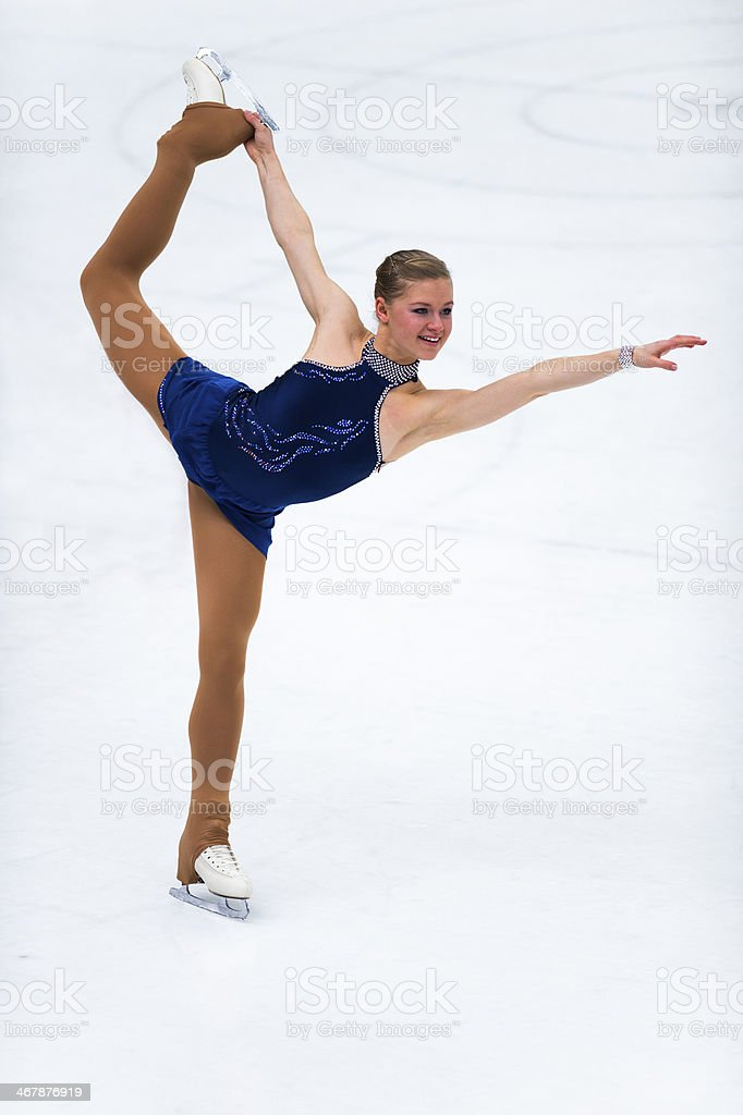 Professional Female Skater in the Action stock photo