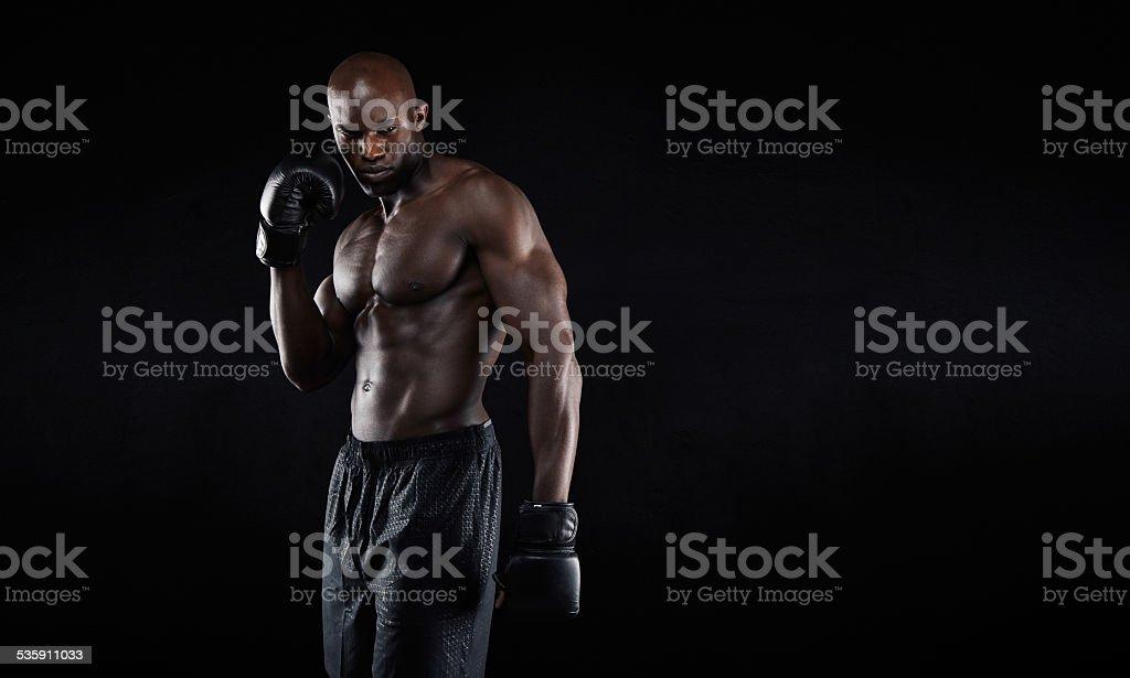 Professional fighter portrait stock photo