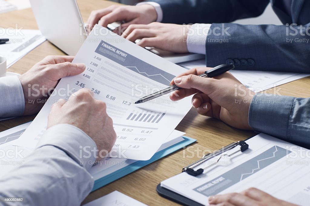 Professional financial service stock photo