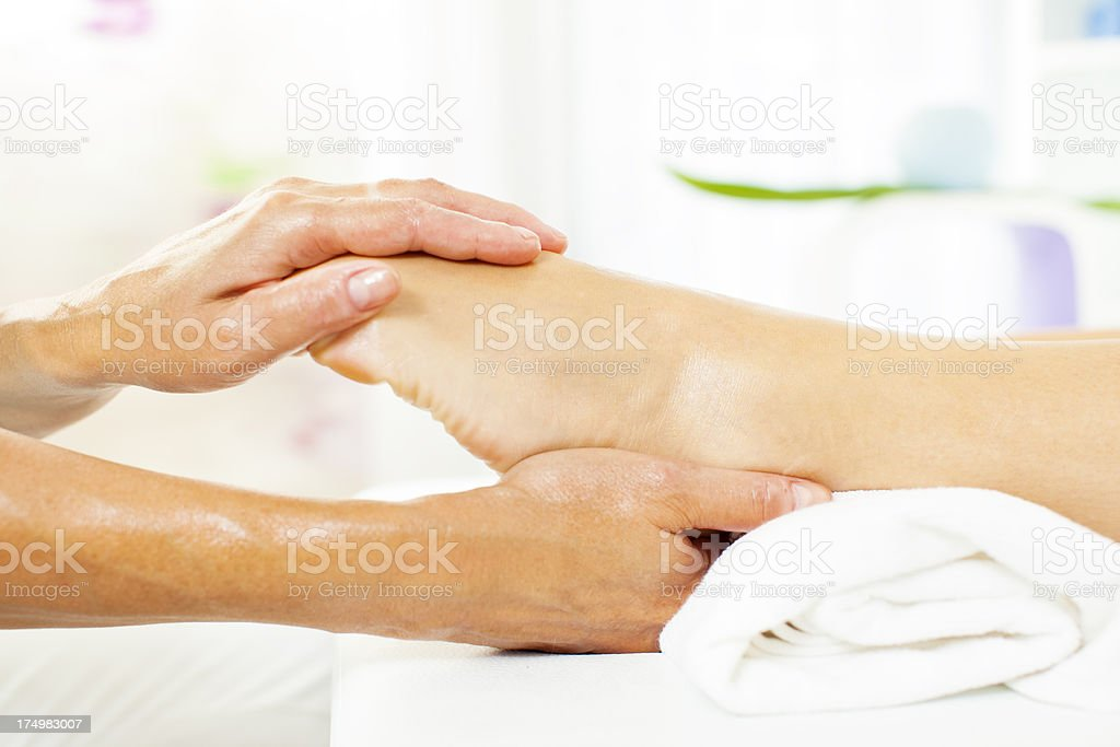 Professional Foot Massage. stock photo