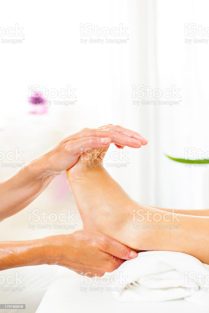 Professional Foot Massage. royalty-free stock photo