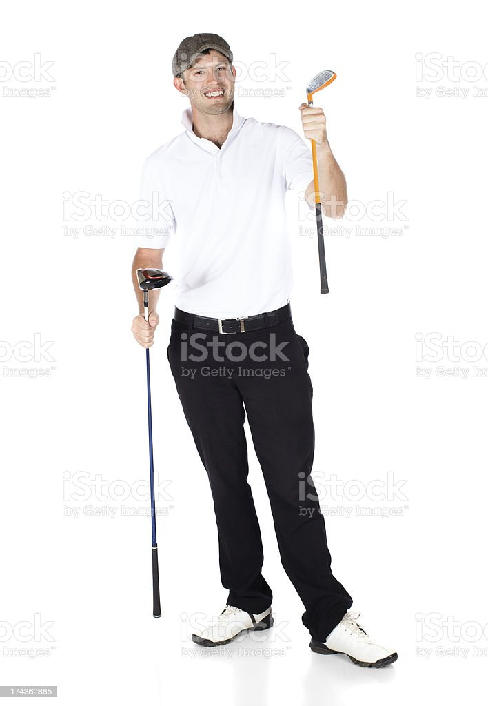 Professional golf player stock photo