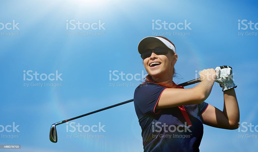professional golf swing stock photo