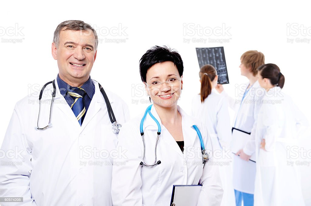 professional group of doctors royalty-free stock photo
