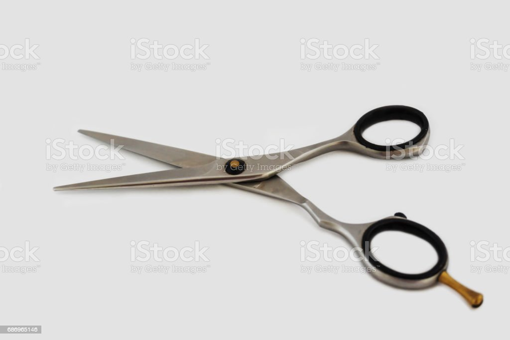Professional hair-cutters scisors stock photo