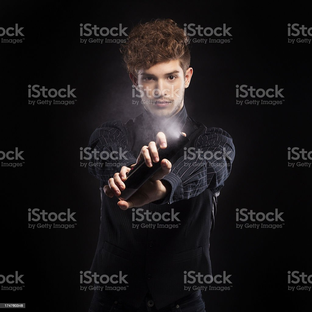 Professional Hairdresser stock photo