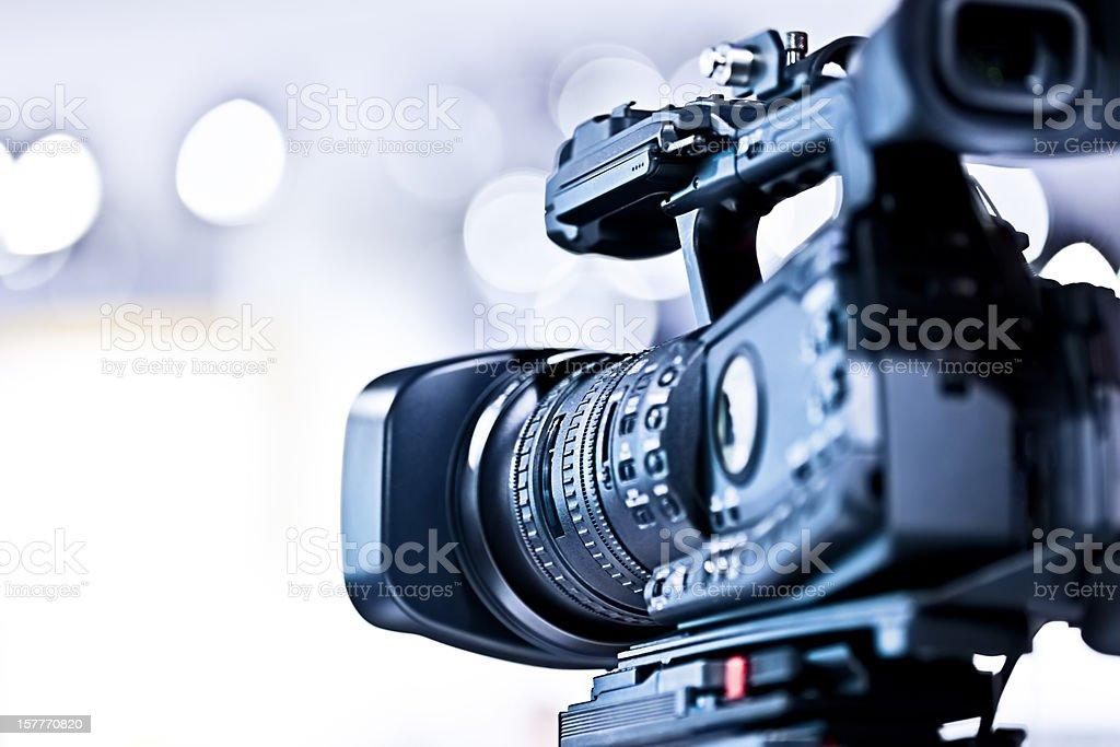 Professional HD video camera in studio royalty-free stock photo