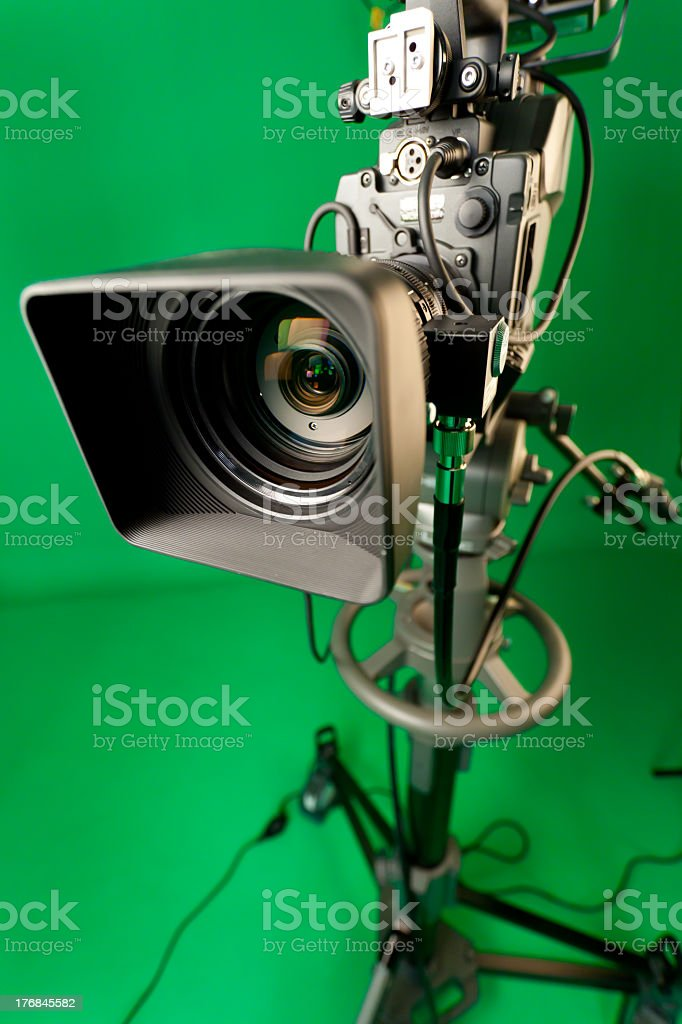 Professional HD video camera royalty-free stock photo