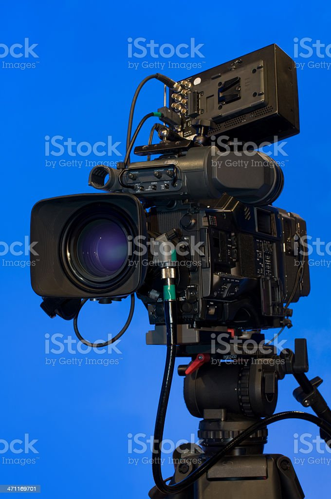 Professional HD video camera stock photo