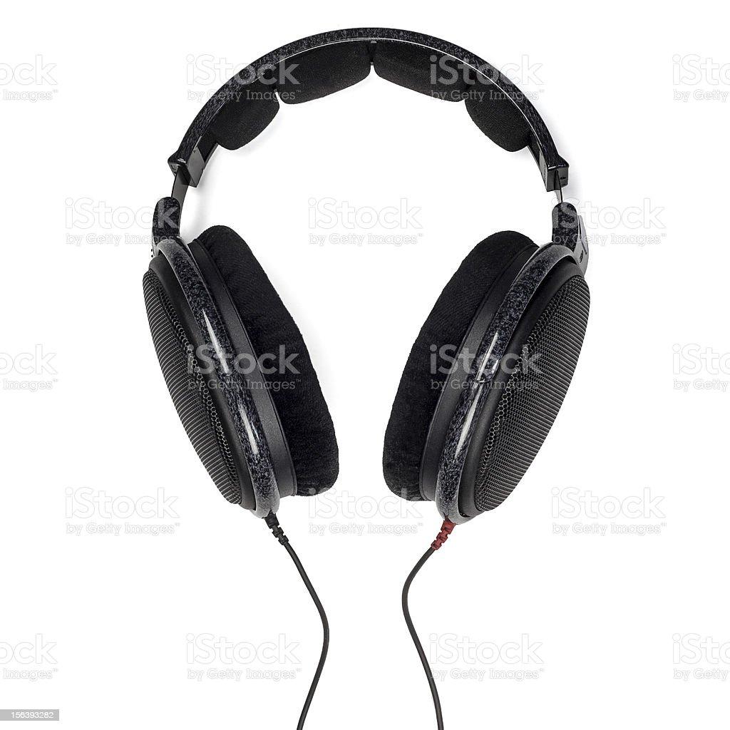 professional headphones isolated on white background royalty-free stock photo