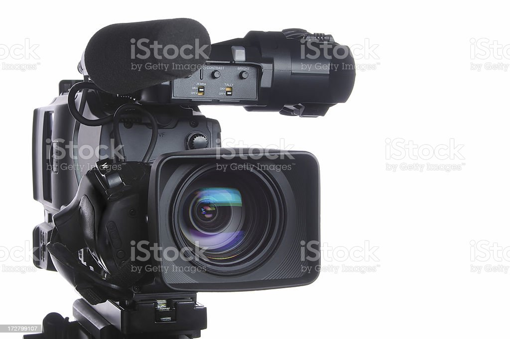 Professional high definition video camera stock photo