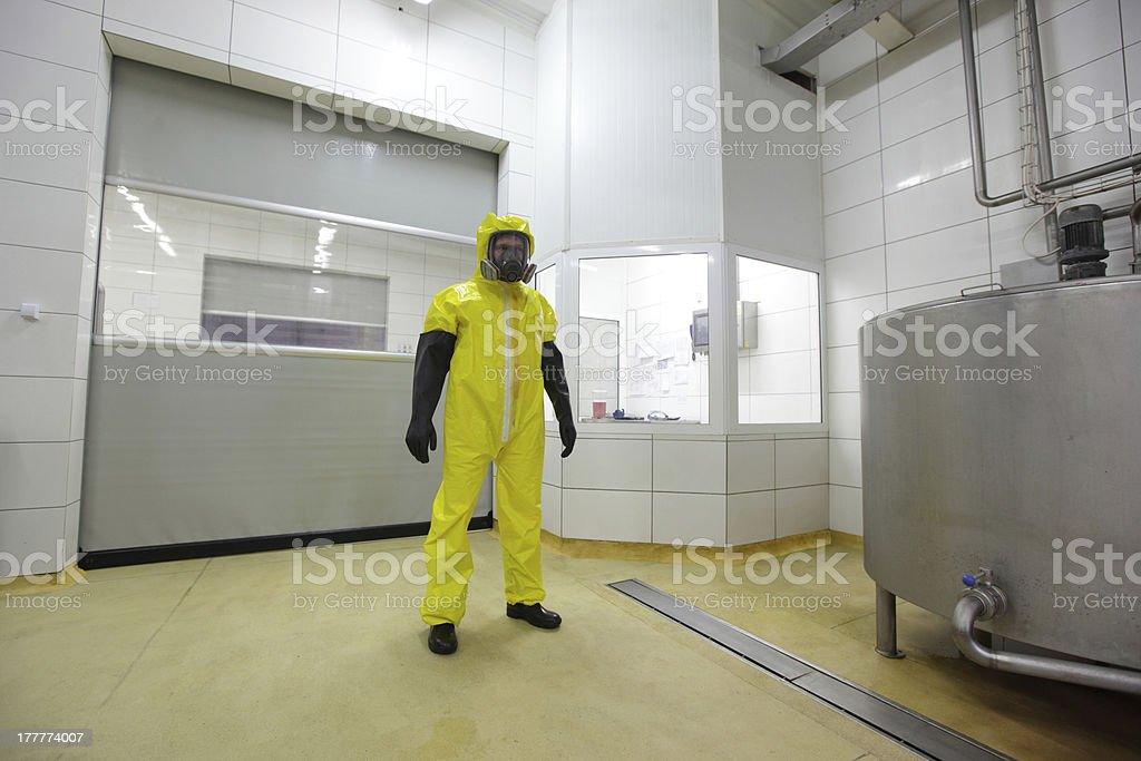 professional in protective uniform - industrial environment royalty-free stock photo